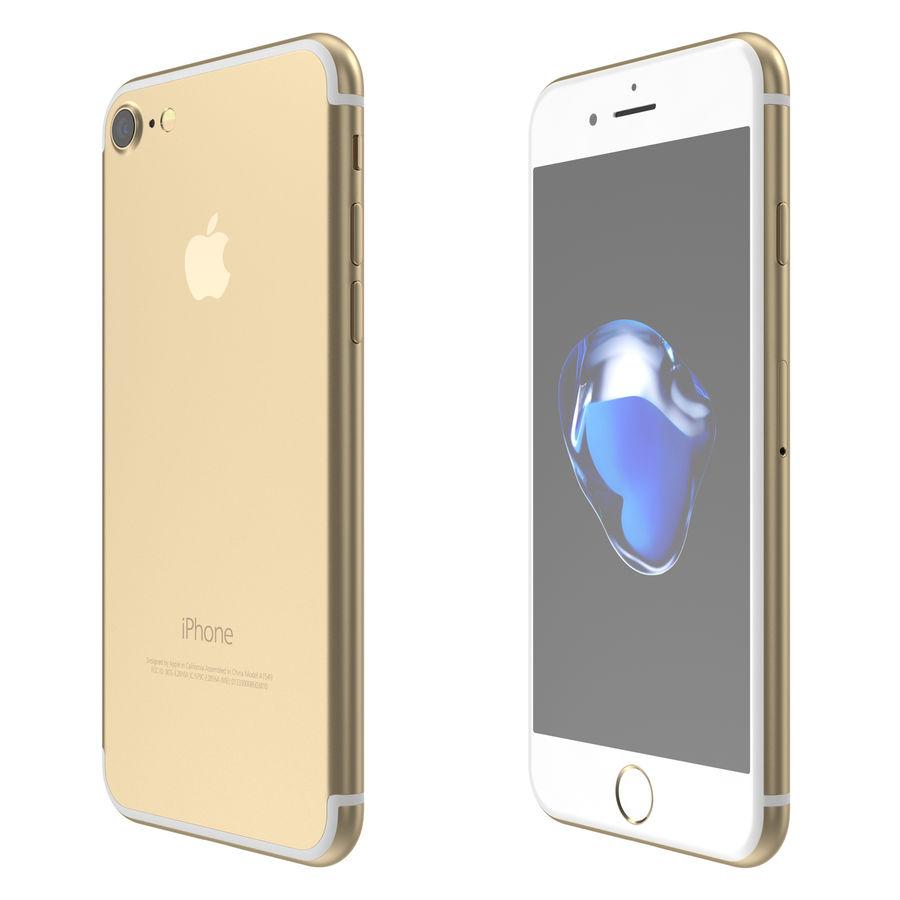 Apple iPhone 7 todos los colores royalty-free modelo 3d - Preview no. 6