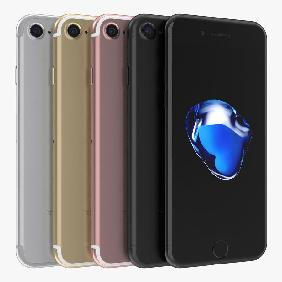 Apple iPhone 7 todos los colores royalty-free modelo 3d - Preview no. 1