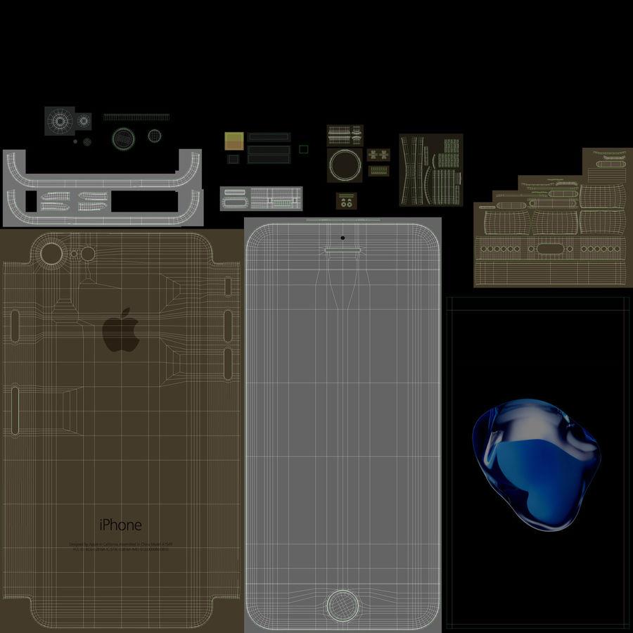 Apple iPhone 7 todos los colores royalty-free modelo 3d - Preview no. 25