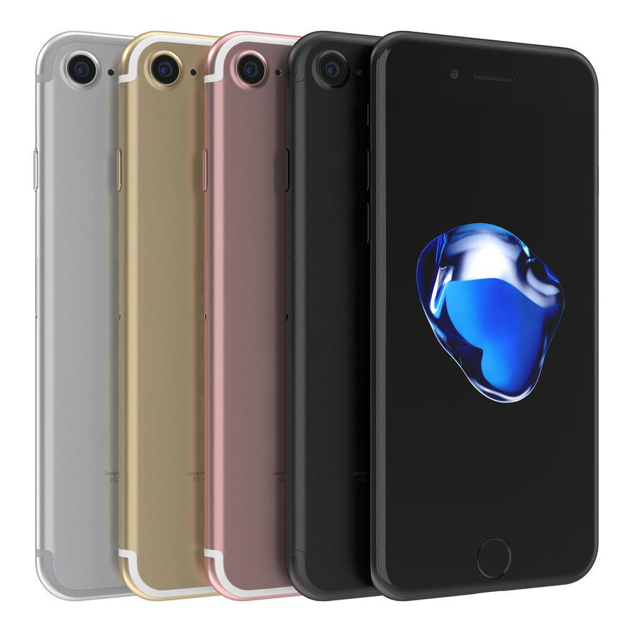 Apple iPhone 7 todos los colores royalty-free modelo 3d - Preview no. 2