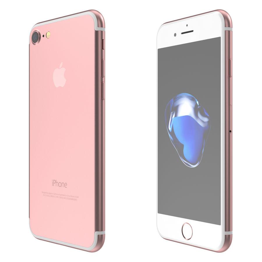 Apple iPhone 7 todos los colores royalty-free modelo 3d - Preview no. 8