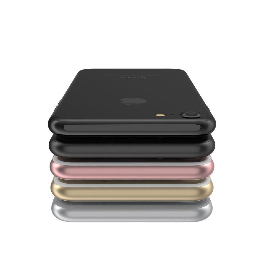Apple iPhone 7 todos los colores royalty-free modelo 3d - Preview no. 14