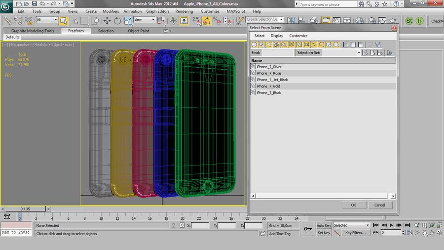 Apple iPhone 7 todos los colores royalty-free modelo 3d - Preview no. 26