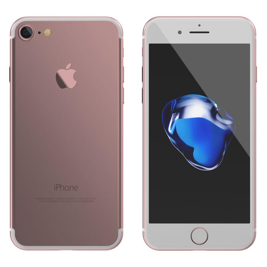 Apple iPhone 7 todos los colores royalty-free modelo 3d - Preview no. 7