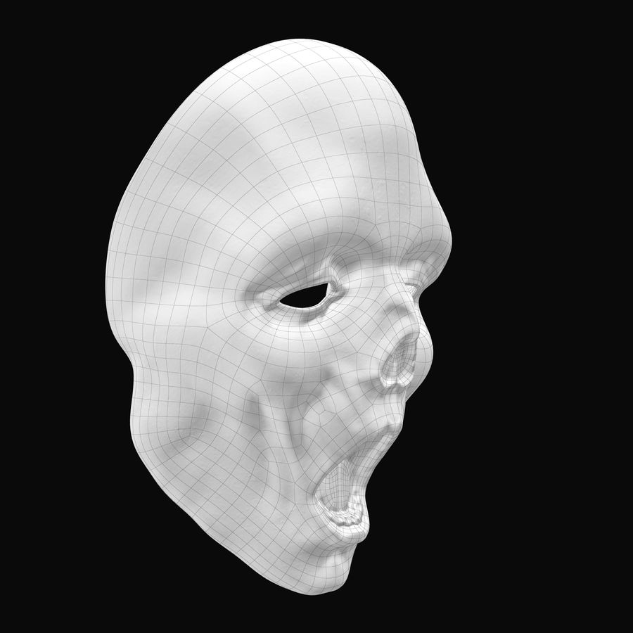 Dead Man Mask royalty-free 3d model - Preview no. 13