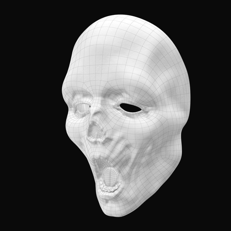 Dead Man Mask royalty-free 3d model - Preview no. 18