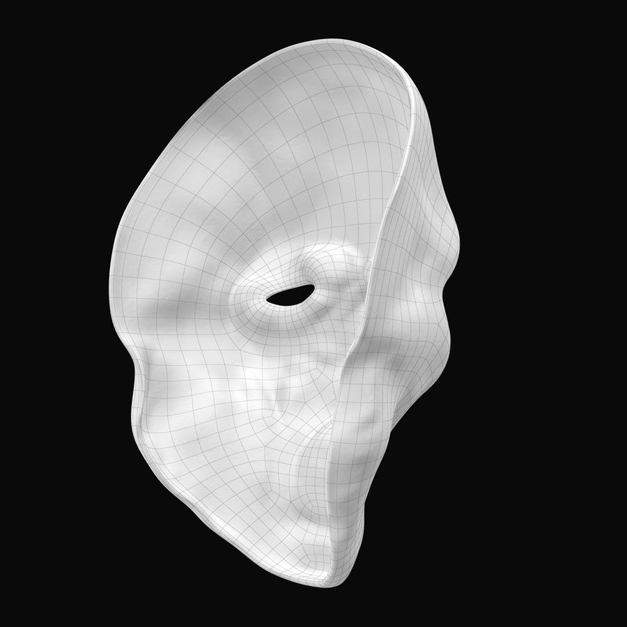 Dead Man Mask royalty-free 3d model - Preview no. 15