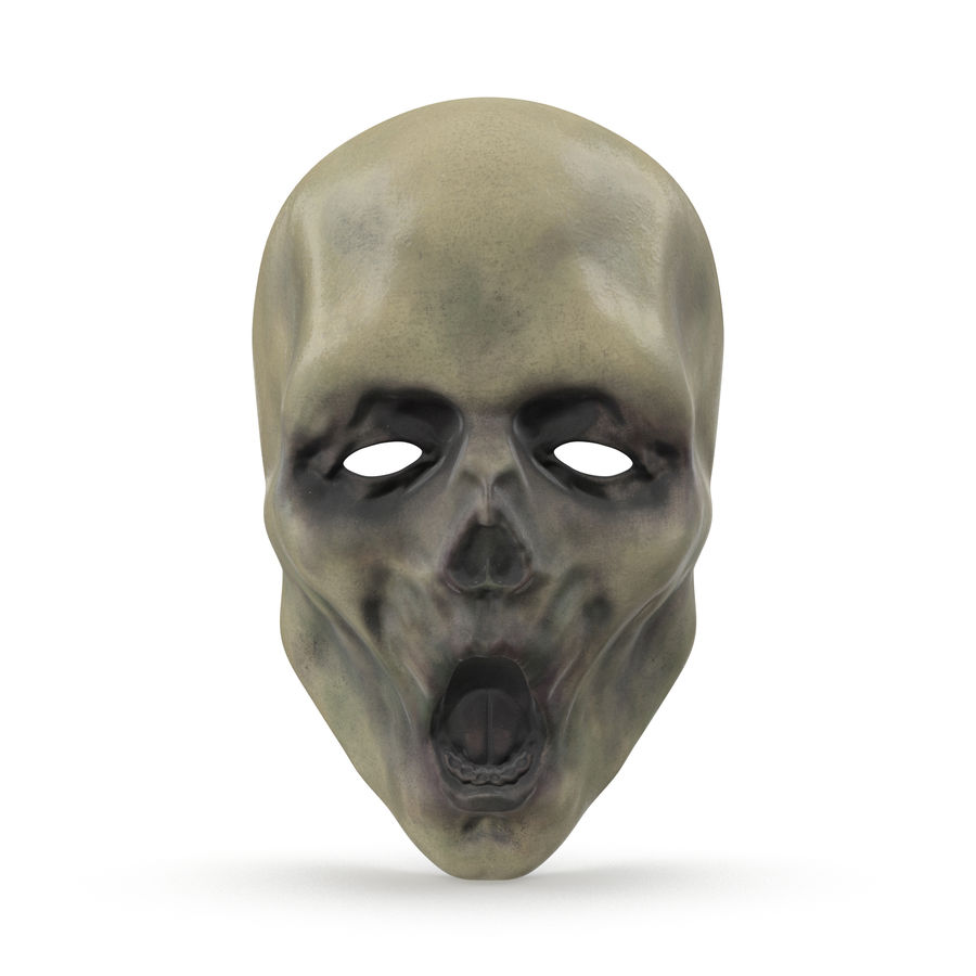 Dead Man Mask royalty-free 3d model - Preview no. 2