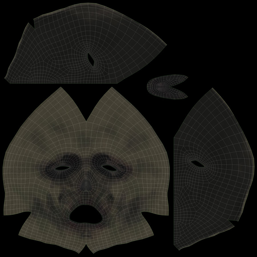 Dead Man Mask royalty-free 3d model - Preview no. 21
