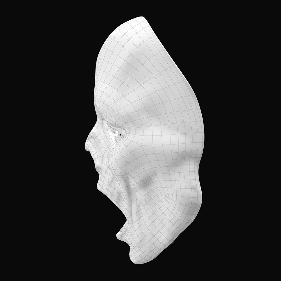 Dead Man Mask royalty-free 3d model - Preview no. 17