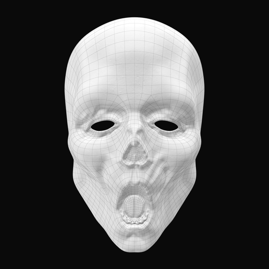 Dead Man Mask royalty-free 3d model - Preview no. 12