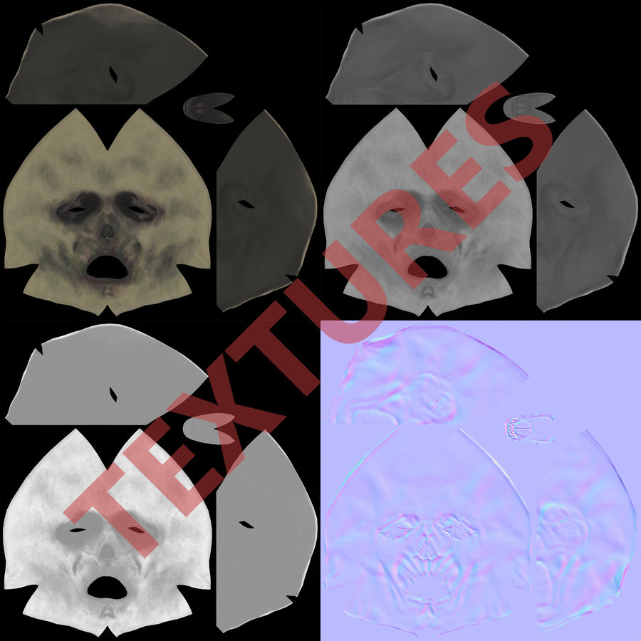 Dead Man Mask royalty-free 3d model - Preview no. 22