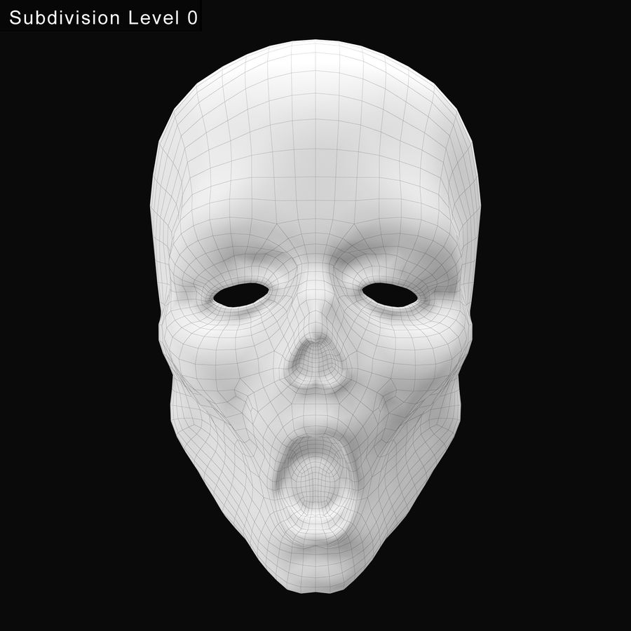 Dead Man Mask royalty-free 3d model - Preview no. 19