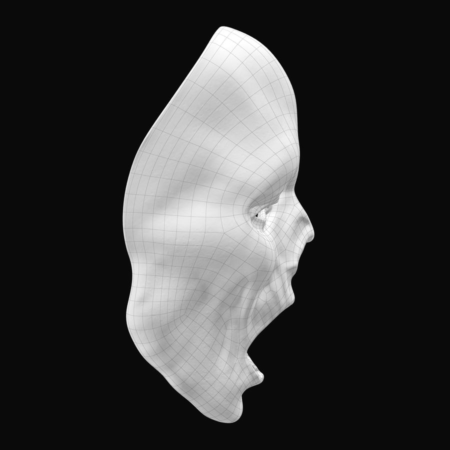 Dead Man Mask royalty-free 3d model - Preview no. 14