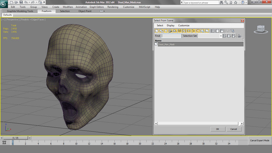 Dead Man Mask royalty-free 3d model - Preview no. 23