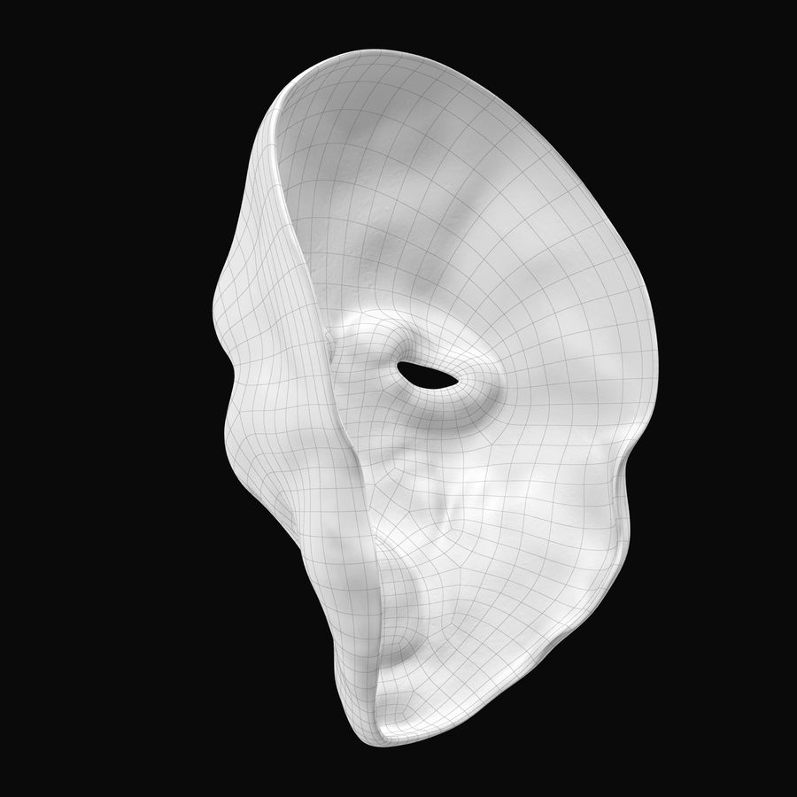 Dead Man Mask royalty-free 3d model - Preview no. 16