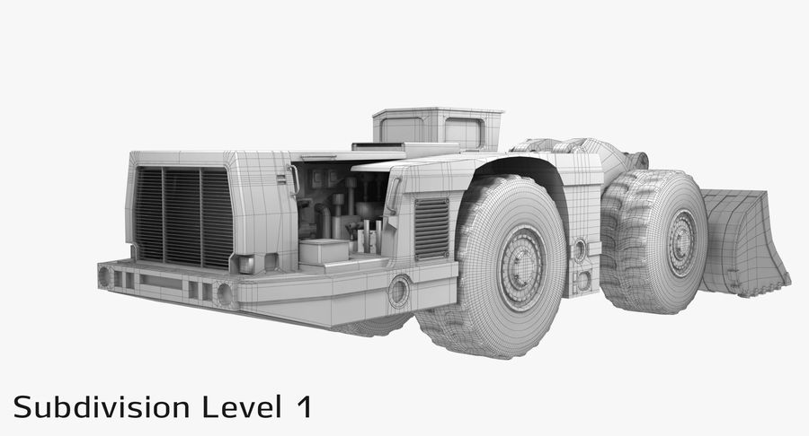 Underground Loader royalty-free 3d model - Preview no. 20