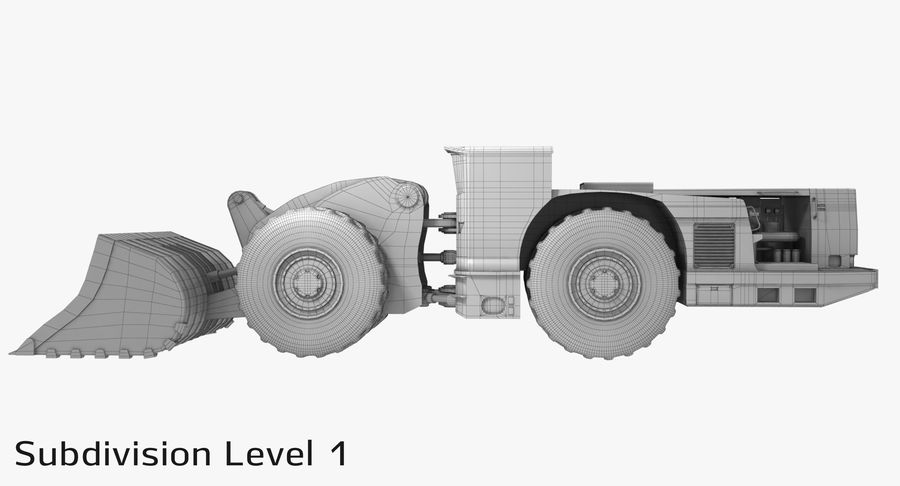 Underground Loader royalty-free 3d model - Preview no. 16