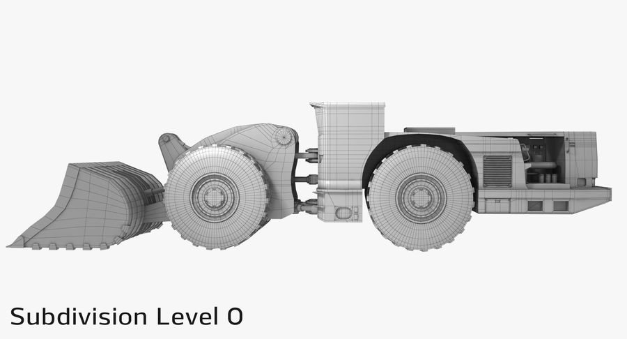 Underground Loader royalty-free 3d model - Preview no. 15