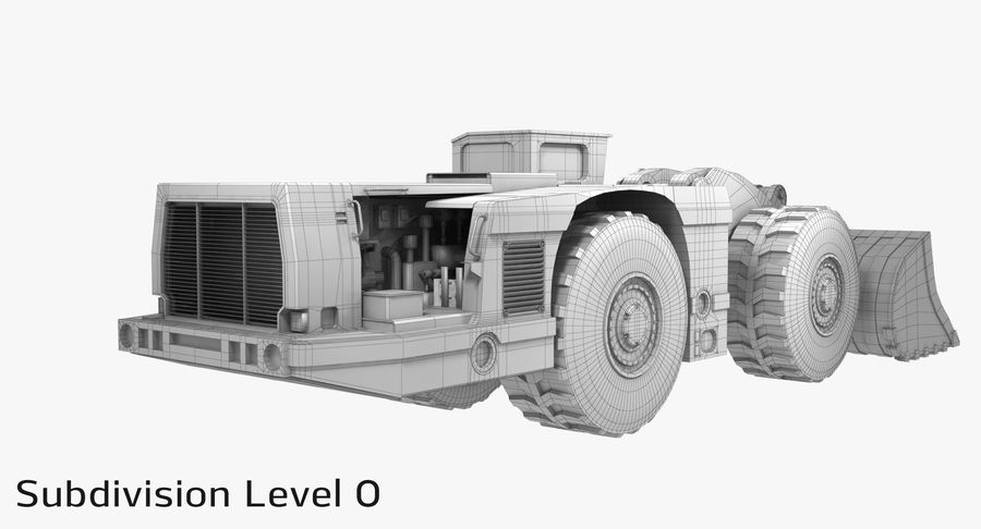 Underground Loader royalty-free 3d model - Preview no. 19