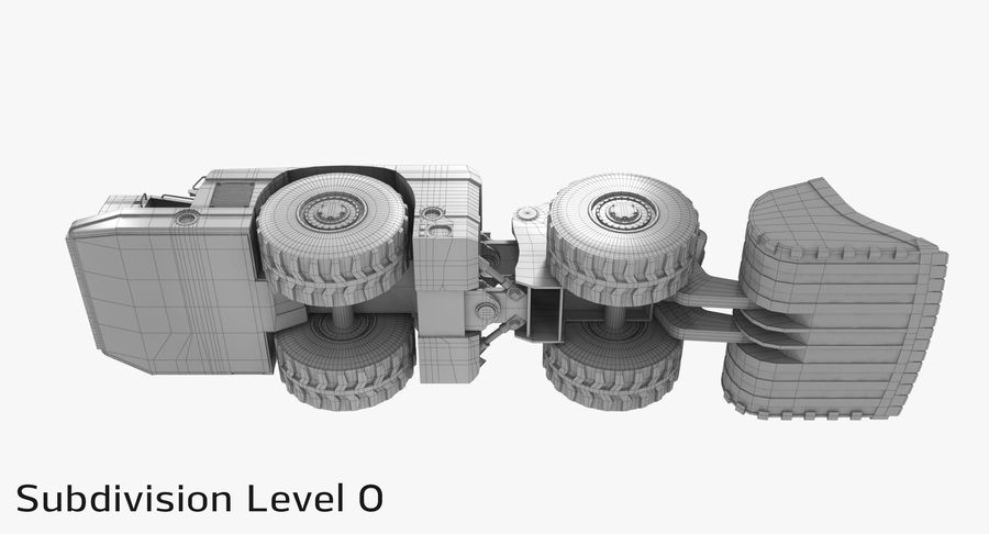 Underground Loader royalty-free 3d model - Preview no. 17