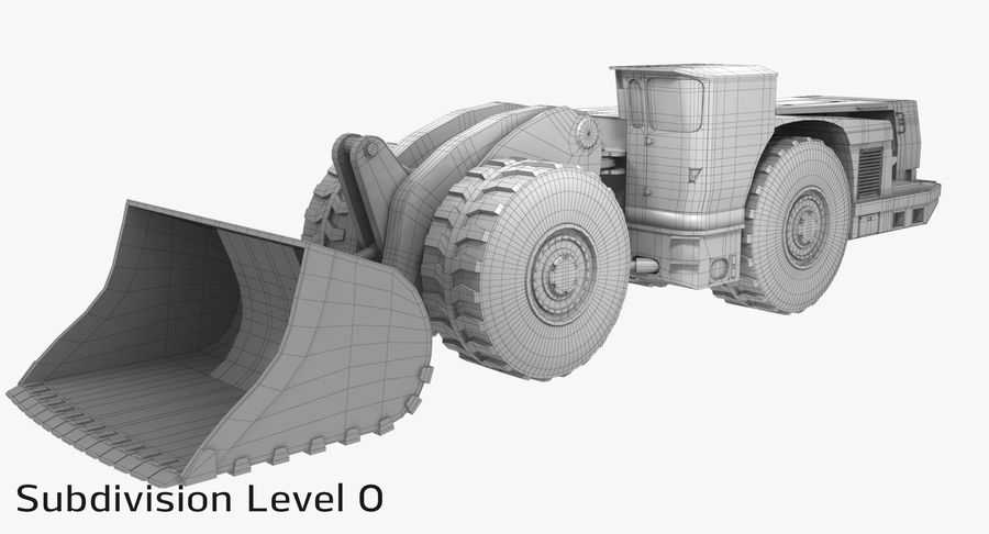 Underground Loader royalty-free 3d model - Preview no. 13