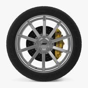 AEZ Straight Shine Disk Car Wheel 3d model