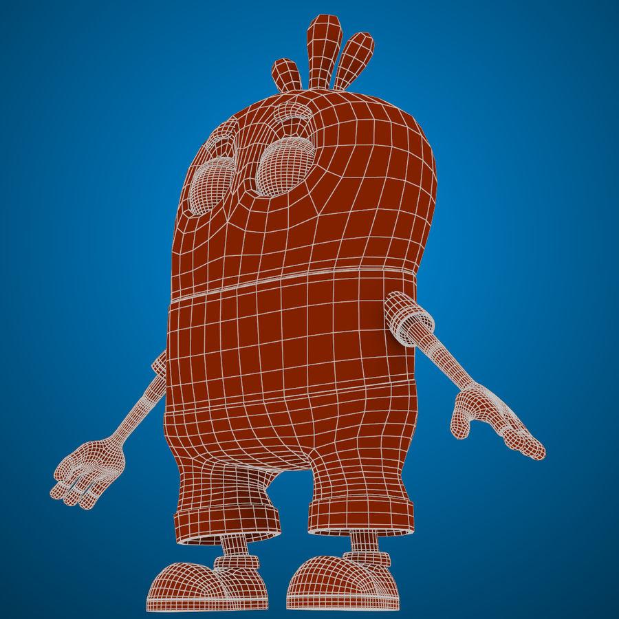 Низкополигональный, нестандартный персонаж royalty-free 3d model - Preview no. 23