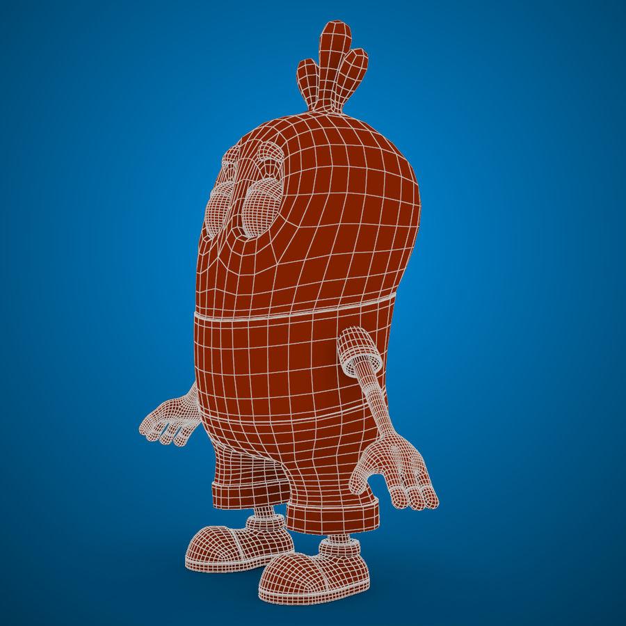 Низкополигональный, нестандартный персонаж royalty-free 3d model - Preview no. 19