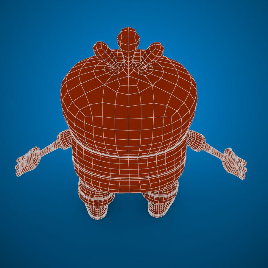 Низкополигональный, нестандартный персонаж royalty-free 3d model - Preview no. 15