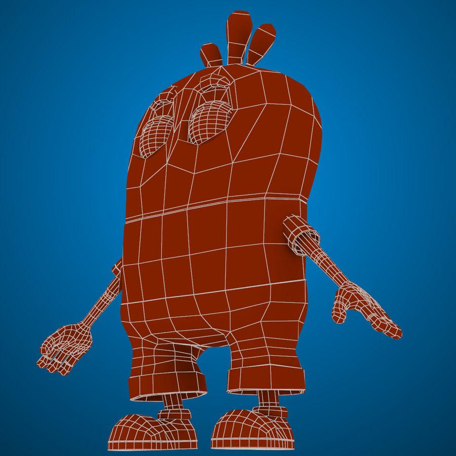 Низкополигональный, нестандартный персонаж royalty-free 3d model - Preview no. 22
