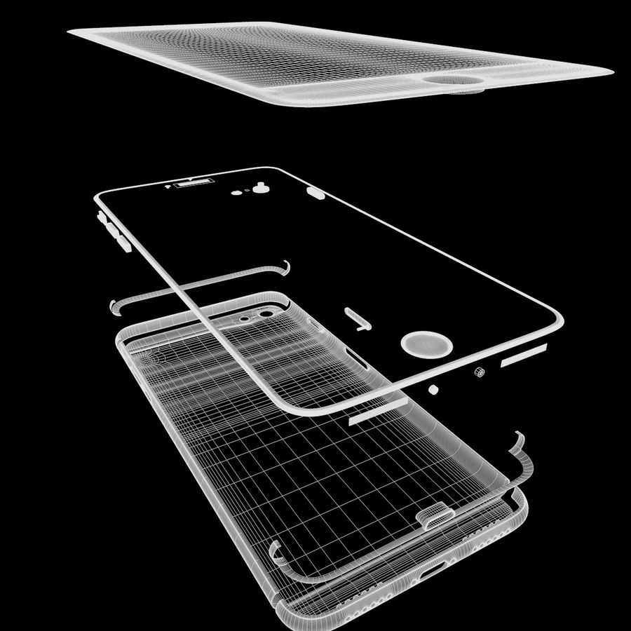 苹果手机7 royalty-free 3d model - Preview no. 15