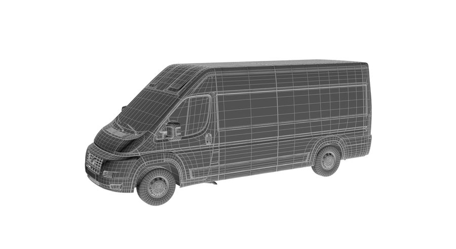 Fiat Ducato Dilivery Автомобиль royalty-free 3d model - Preview no. 9