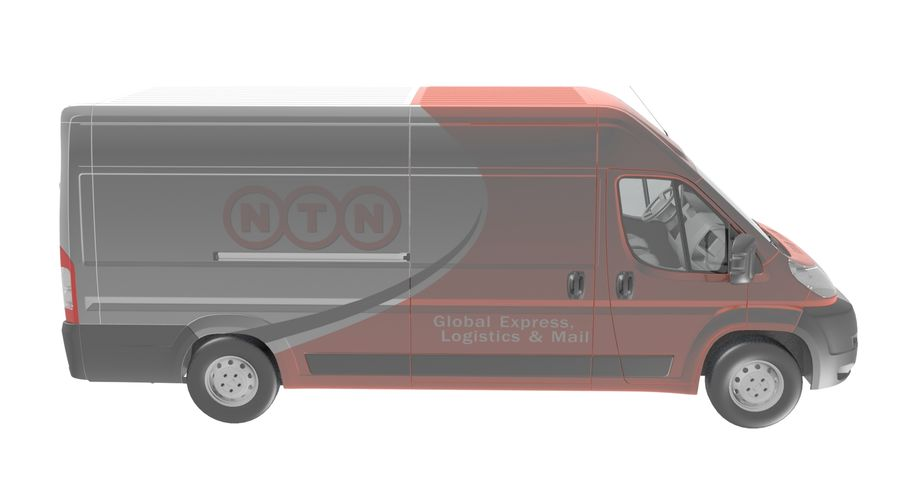 Fiat Ducato Dilivery Автомобиль royalty-free 3d model - Preview no. 6