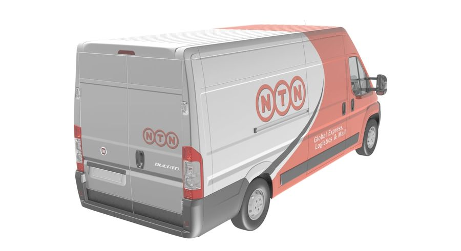 Fiat Ducato Dilivery Автомобиль royalty-free 3d model - Preview no. 5