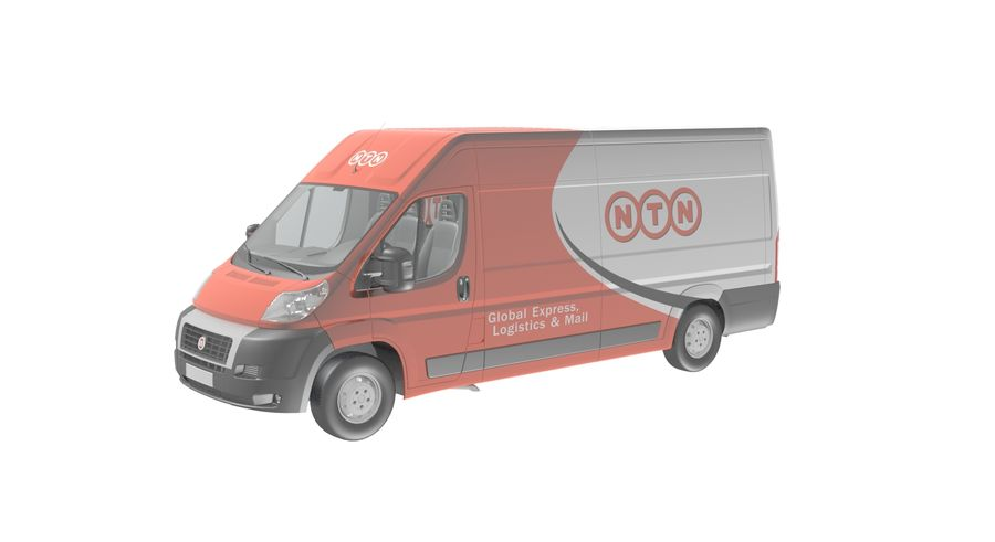 Fiat Ducato Dilivery Автомобиль royalty-free 3d model - Preview no. 1