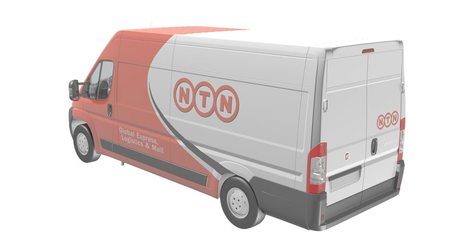Fiat Ducato Dilivery Автомобиль royalty-free 3d model - Preview no. 3