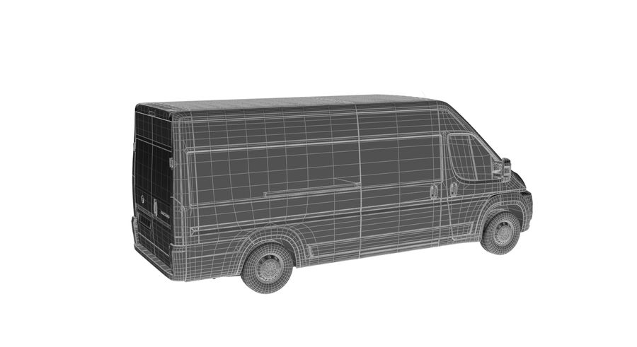 Fiat Ducato Dilivery Автомобиль royalty-free 3d model - Preview no. 10
