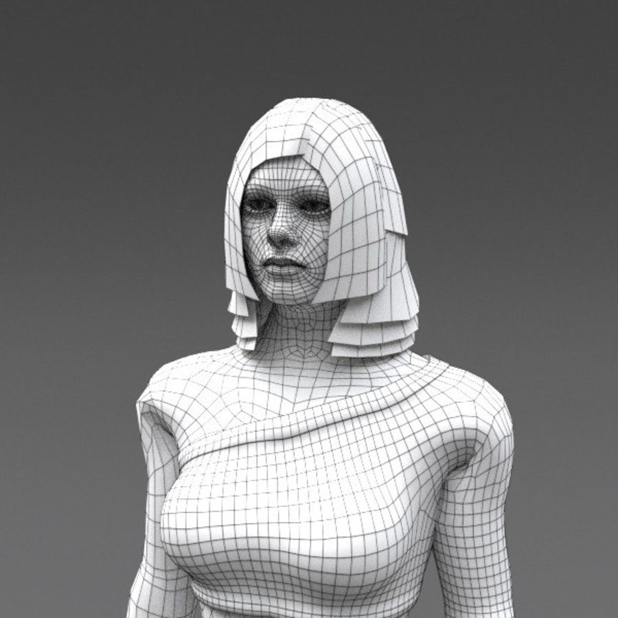Female Fantasy Character royalty-free 3d model - Preview no. 10