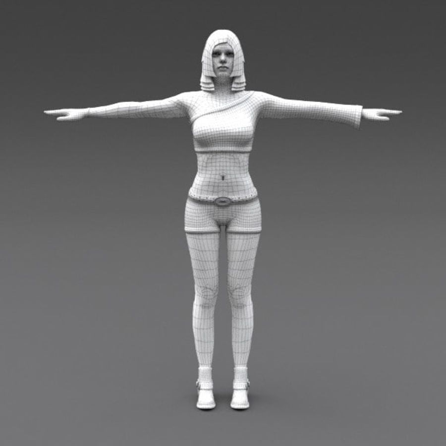 Female Fantasy Character royalty-free 3d model - Preview no. 18