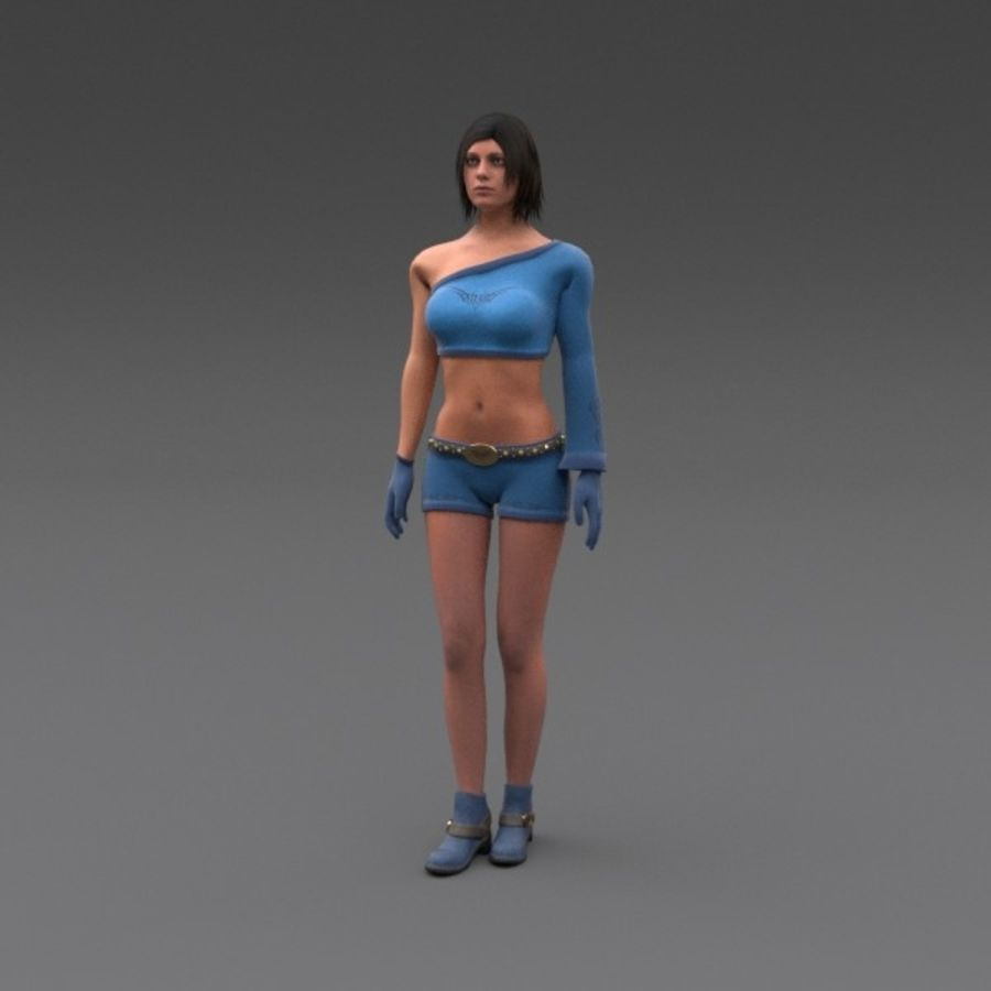 Female Fantasy Character royalty-free 3d model - Preview no. 1