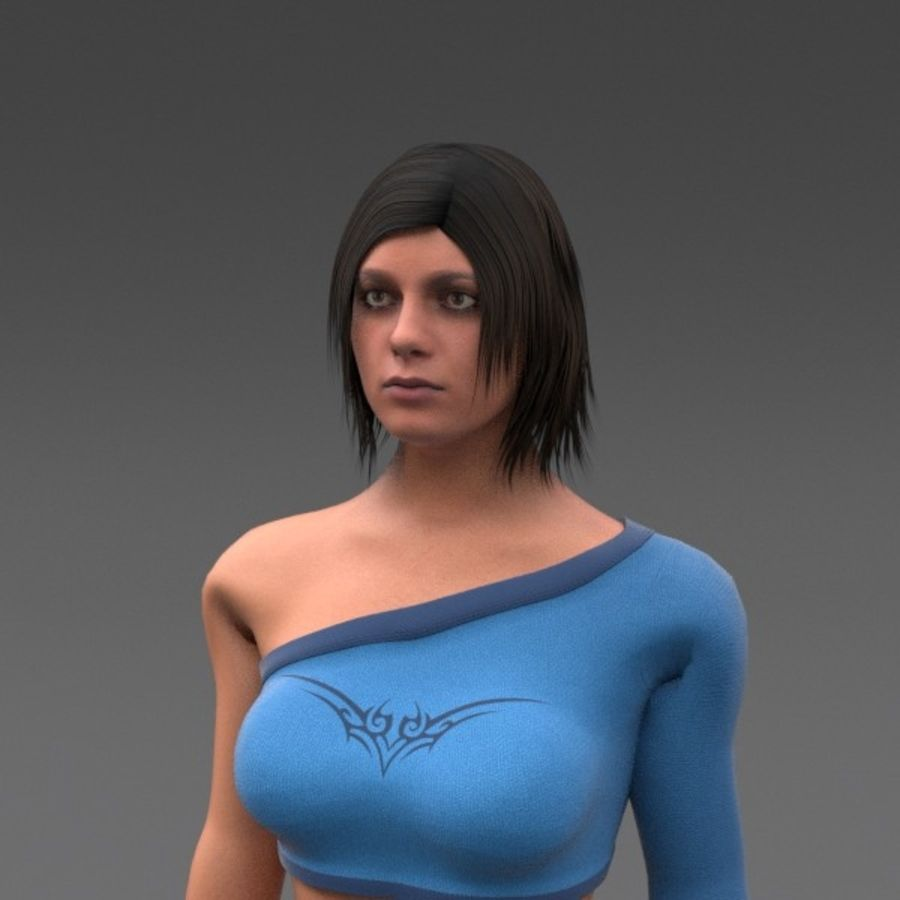 Female Fantasy Character royalty-free 3d model - Preview no. 9