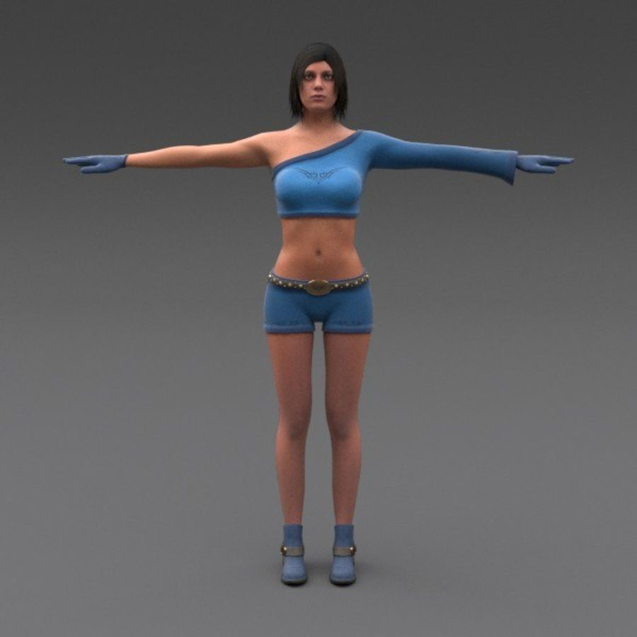 Female Fantasy Character royalty-free 3d model - Preview no. 17
