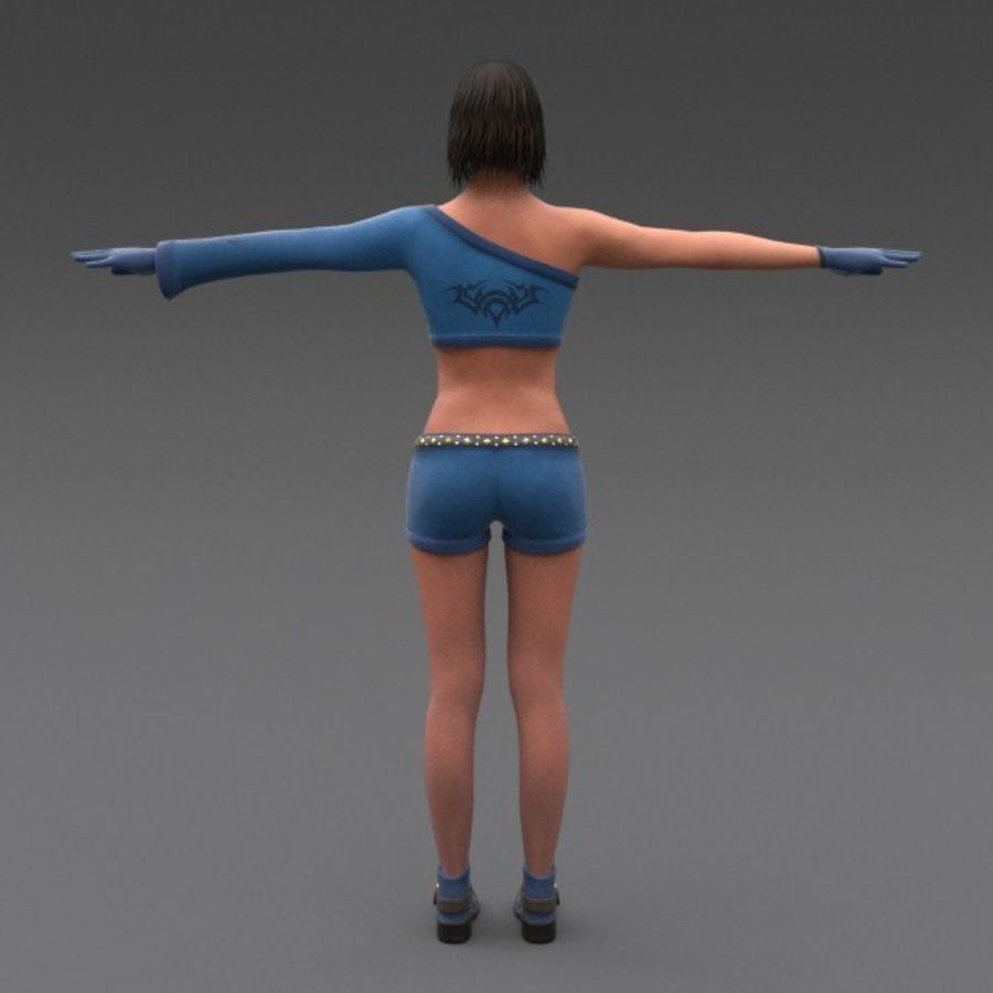 Female Fantasy Character royalty-free 3d model - Preview no. 21