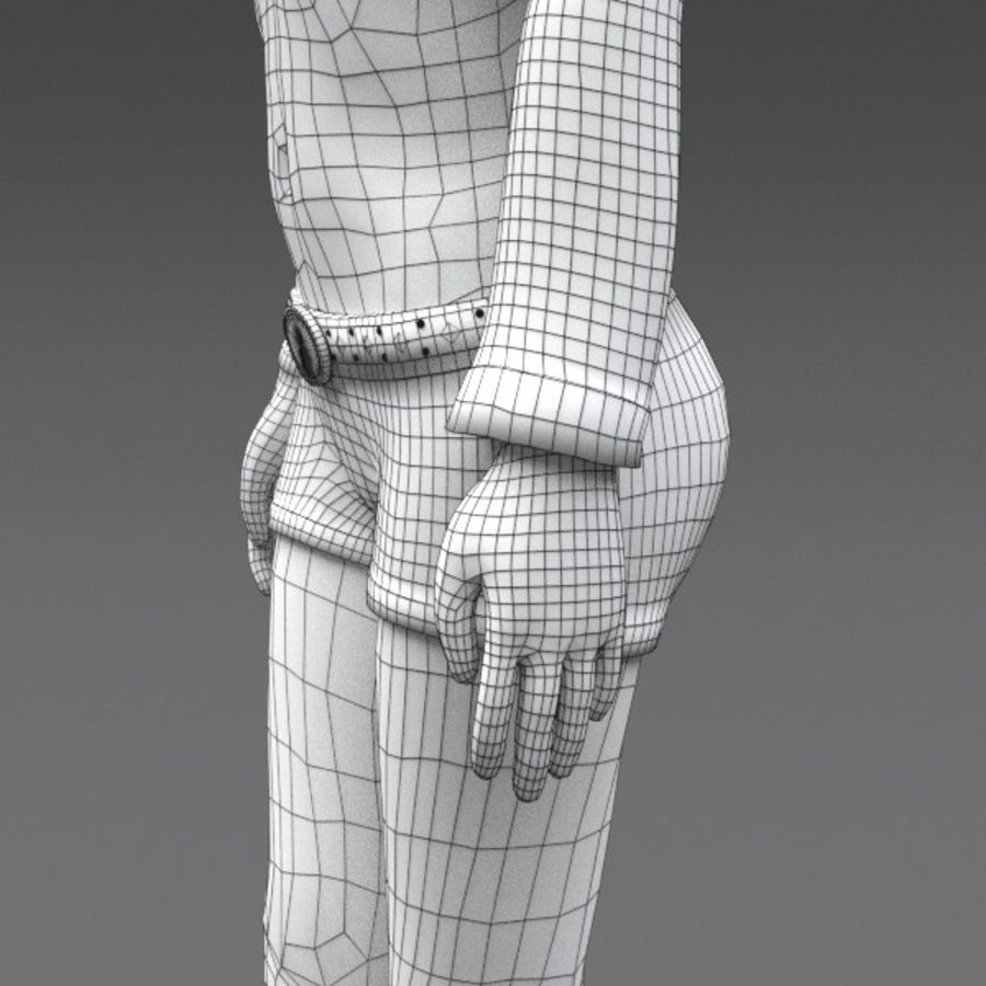 Female Fantasy Character royalty-free 3d model - Preview no. 14