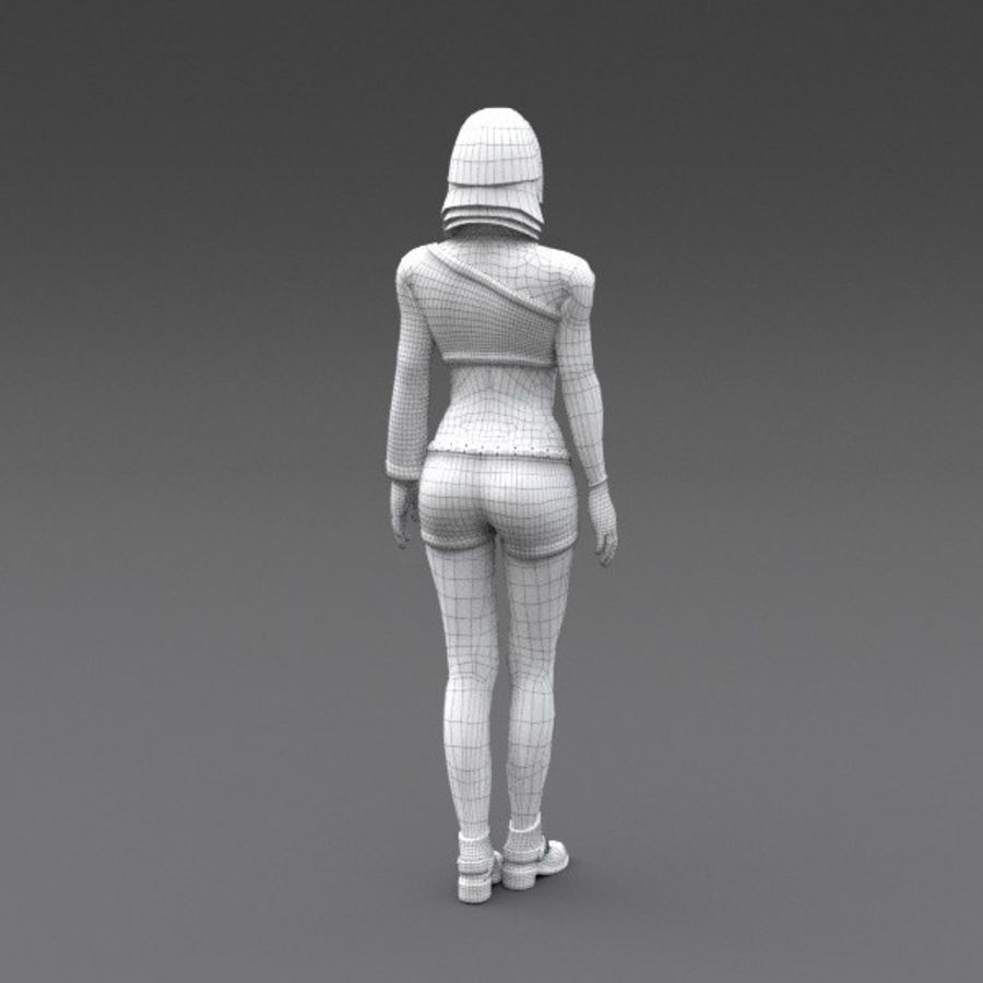 Female Fantasy Character royalty-free 3d model - Preview no. 6