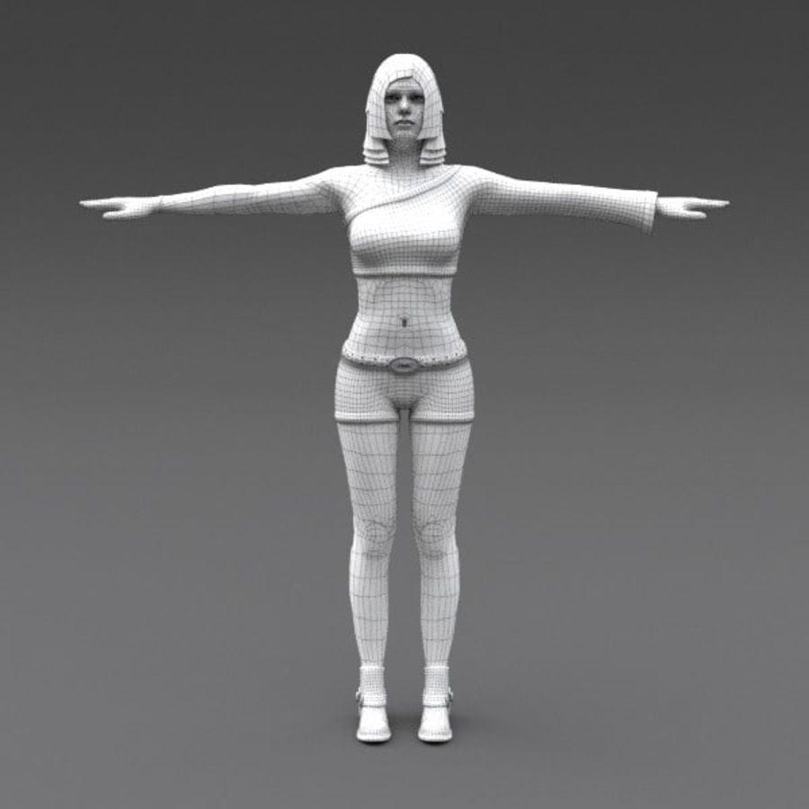 女性幻想人物 royalty-free 3d model - Preview no. 18