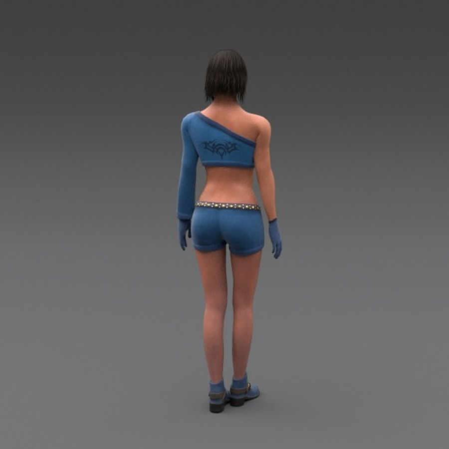 Female Fantasy Character royalty-free 3d model - Preview no. 5