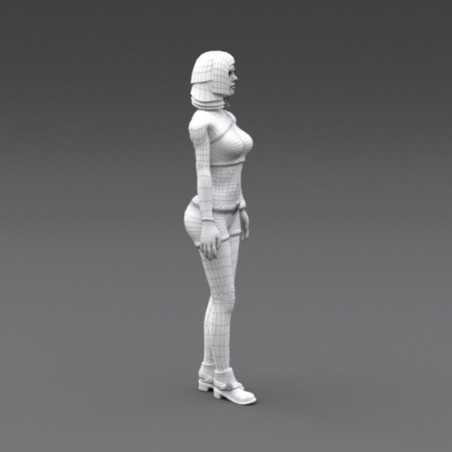 Female Fantasy Character royalty-free 3d model - Preview no. 4