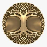 Keltisk prydnad - träd 3d model